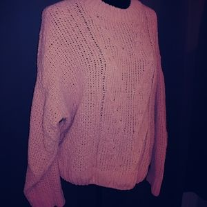 Soft Pink Cableknit Sweater